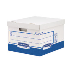 View more details about Bankers Box Basics Large Storage Boxes, Pack of 10 - 4461601