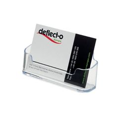 View more details about Deflecto Business Card Holder (Max Card Width: 95mm) 70101