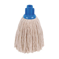 View more details about 2Work Twine Rough Socket Mop 12oz Blue (Pack of 10) 101851B