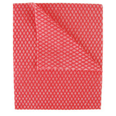 View more details about 2Work Economy Cloth 420x350mm Red (Pack of 50) 104420RED