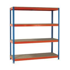 View more details about VFM 2000 x 600mm Orange/Zinc Heavy Duty Painted Shelving Unit - 379028