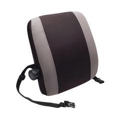 View more details about Contour Ergonomics Black/Grey Premium Lumbar Back Support – CE77701
