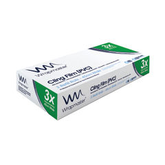 View more details about Wrapmaster 4500 450mm x 300m Cling Film Refills, Pack 3 - 31C81