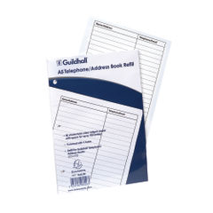 View more details about Exacompta Guildhall Ruled Telephone Address Book Refill A5 GA5/R