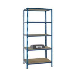 View more details about W1200 x D600mm Blue Medium Duty Bays Shelving Unit - 379626