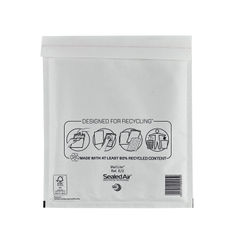 View more details about Mail Lite Bubble Lined Postal Bag Size E/2 220x260mm White (Pack of 100) MLW E/2