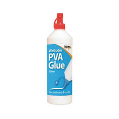 View more details about Tiger Washable PVA Glue 500ml (Pack of 12) 301089