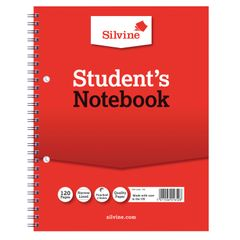 View more details about Silvine Ruled Student Notebook 229x178mm 120 Pages (Pack of 12) 139