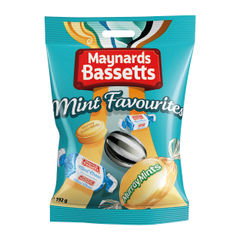 View more details about Maynards Bassetts 192g Mint Favourites (Pack of 12) - 4021645