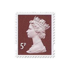 View more details about Royal Mail 5p Postage Stamp Sheet (Sheet of 25) – D05