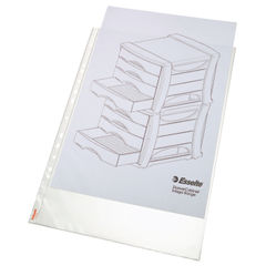 View more details about Esselte Pocket Portrait Top Opening Embossed A3 Clear (Pack of 10) 47181