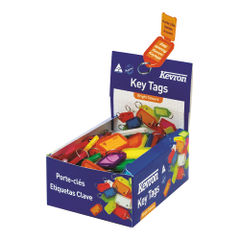 View more details about Kevron Plastic Clicktag Key Tag Assorted (Pack of 100) ID5AC100
