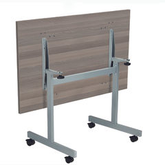 View more details about Jemini 1200x700mm Grey Oak/Silver Rectangular Tilting Table