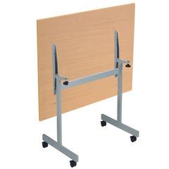 View more details about Jemini 1200x700mm Nova Oak/Silver Rectangular Tilting Table