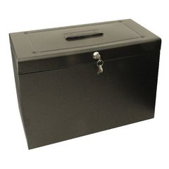 View more details about Cathedral Metal File Box Home Office Foolscap Black HOBK