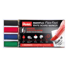 View more details about Pentel Maxiflo Whiteboard Marker (Pack of 4) YMWL5SBF/4-M