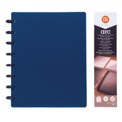 View more details about M By Staples ARC Notebook PP Cover Lined 60 Sheets A5 Blue 8851110
