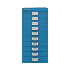 View more details about Bisley 590mm Azure Blue 10 Drawer Cabinet - BY78740