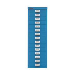 View more details about Bisley 860mm Azure Blue 15 Drawer Cabinet - BY78741