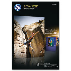 View more details about HP White A3 Advanced Glossy Photo Paper (Pack of 20) Q8697A