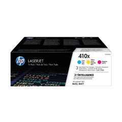 View more details about HP 410X High Yield Cyan Magenta Yellow Laserjet Toner Cartridges (Pack of 3) CF252XM