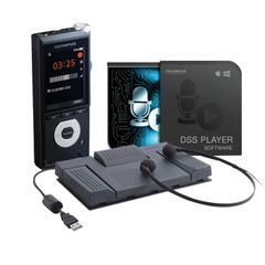 View more details about Olympus DS-2600 and AS-2400 Dictation and Transcription Starter Kit DS-2600+AS-2400