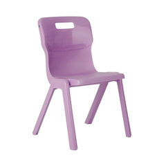View more details about Titan 350mm Purple One Piece Chair – T3-P