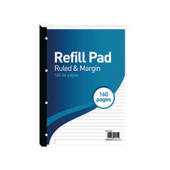 View more details about Hamelin 8mm Ruled/Margin Refill Pad A4 80 Sheet (Pack of 5) 400127657