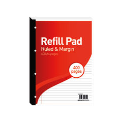 View more details about Hamelin 8mm Ruled/Margin Refill Pad A4 400 Sheet (Pack of 5) 400127670