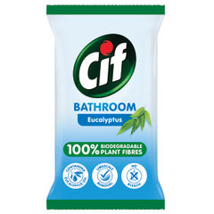 View more details about Cif Biodegradable Eucalyptus Bathroom Wipes, Pack of 6 - C001710