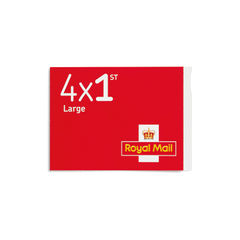 View more details about 1st Class Large Stamps x 4 Pack (Postage Stamp Booklet) – 1C4L SINGLE