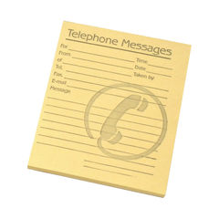 View more details about Challenge Yellow Telephone Message Pads, Pack of 10 - 100080477