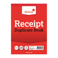 View more details about Silvine Duplicate Receipt Book 105x148mm Gummed (Pack of 12) 230