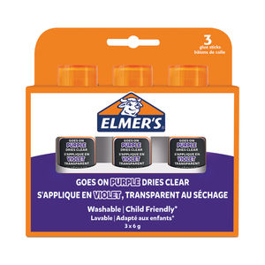 Elmers Purple Glue Sticks (Pack of 3)