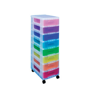 Really Useful Multicoloured Drawer Storage Tower