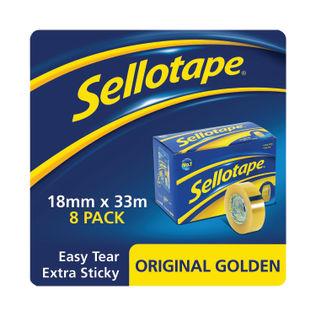Sellotape Original Golden Tape (Pack of 8)