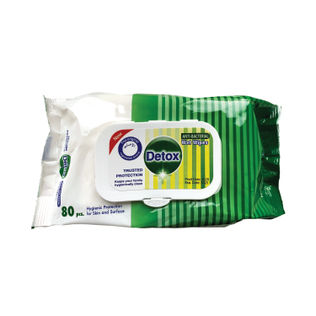 Detox Anti Bacterial Wipes (Pack of 80)