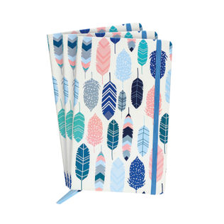 Pukka Feathers Softcover Journal  (Pack of 3)