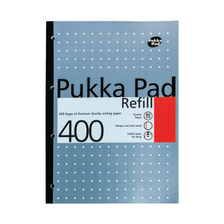 Pukka Pad A4 Refill Pad <br> 400 pages of 80gsm