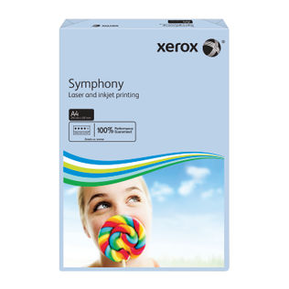 Xerox Symphony Pastel Tints Blue Ream A4 Paper 80gsm