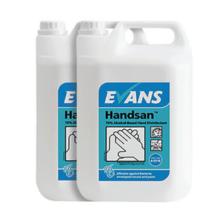 Evans Alcohol Hand Disinfectant 5L (Pack of 2)
