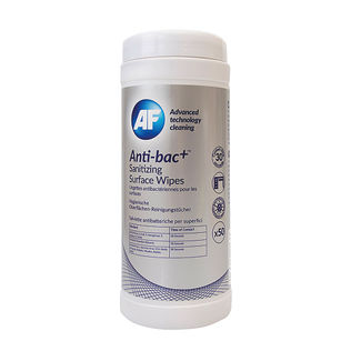 AF Anti-Bac+ Sanitising Surface Wipes (Pack of 50)
