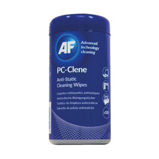 AF PC Clene Anti-Static Wipes Tub
