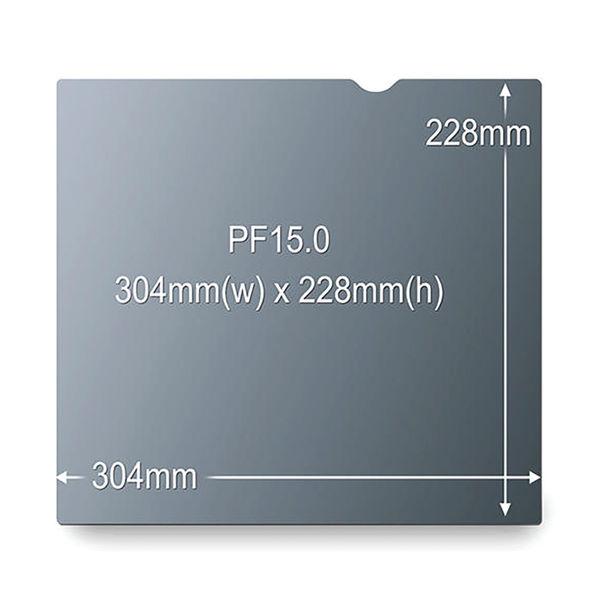3M Black 15 Inch 4:3 Standard Privacy Filter - PF15.0