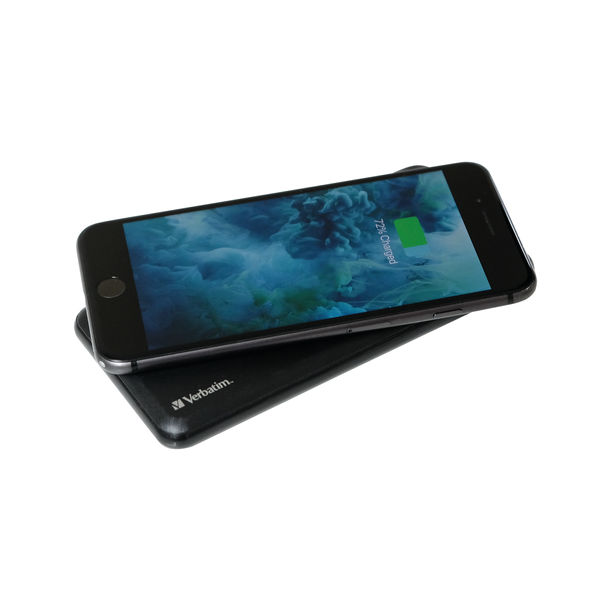 Verbatim 2-in-1 Wireless Charger and 10,000mAh Power Bank - 49571