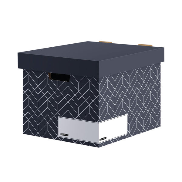 Bankers Box Decor Storage Box Grey (Pack of 5) 4482801