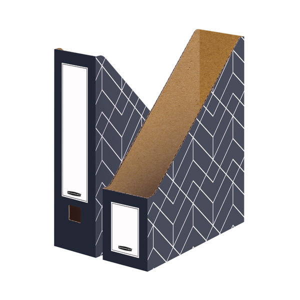 Bankers Box Decor Magazine File Grey (Pack of 5) 4483501