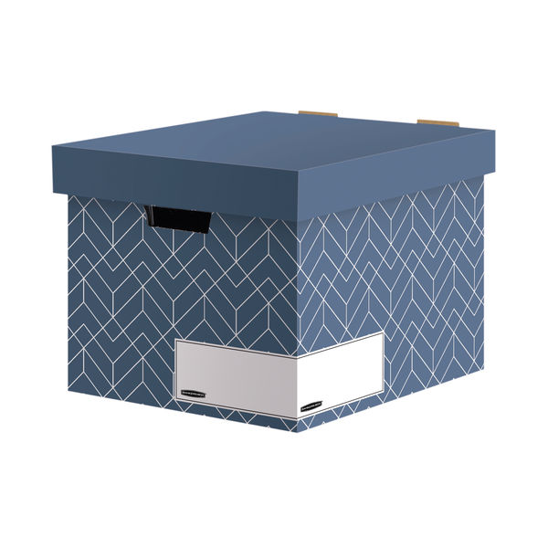 Bankers Box Decor Storage Box Blue (Pack of 5) 4483701