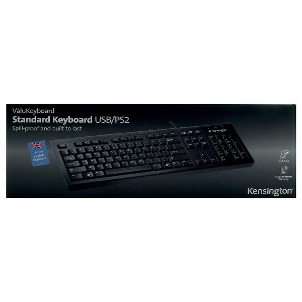 Kensington ValuKeyboard Wired Black - 1500109