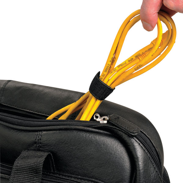 D-Line Cable Tidy Band reusable hook & Loop 1.2m Black cttape1.2b
